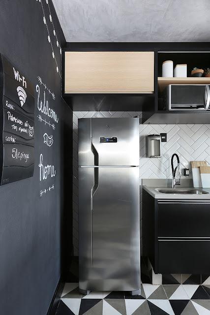 small -black-kitchen