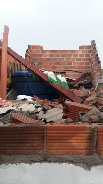 Temporal neste domingo causou estragos no município de Itaberaba