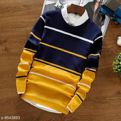 Buy TRY THIS YELLOW STRIPER T-shirt