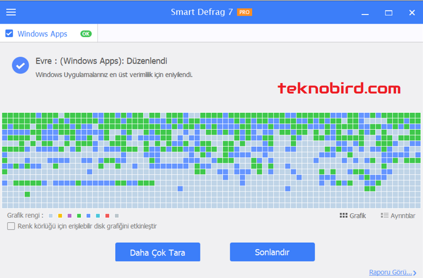 IObit Smart Defrag Pro 7 - Disk Birleştirme