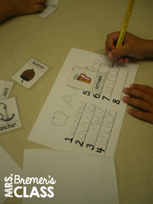 Kindergarten writing center activities
