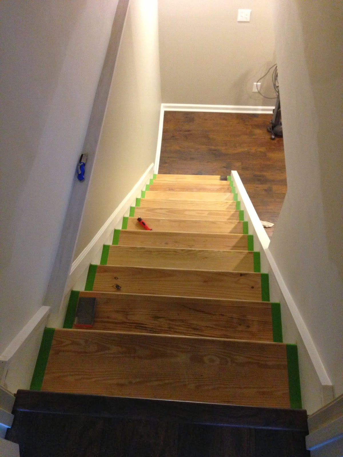 Chic Meets Healthy Refinishing Basement Stairs Part 1