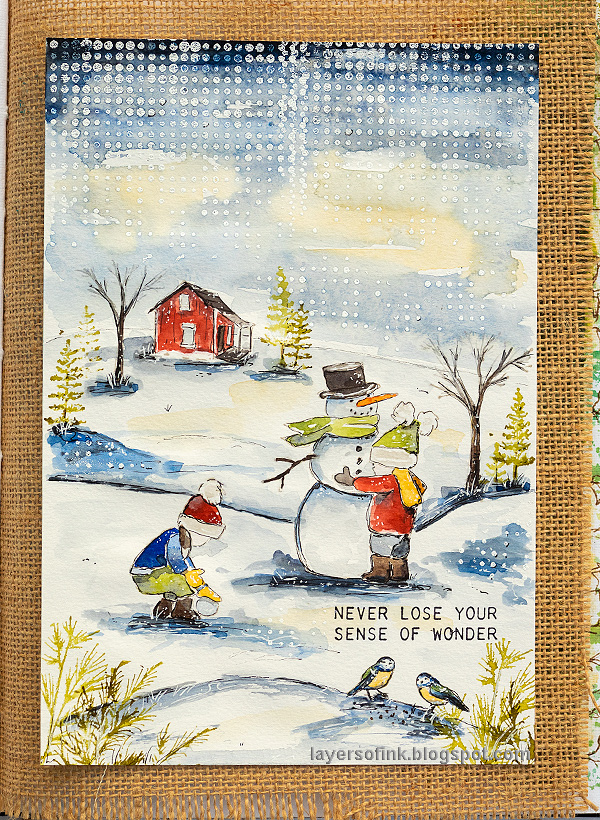 Layers of ink - Watercolor Winter Scene by Anna-Karin Evaldsson.