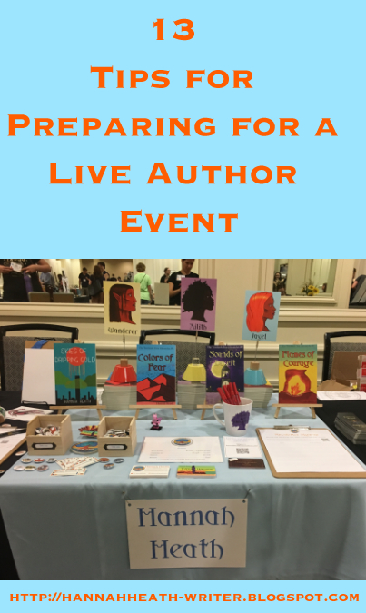 13 Tips for Preparing for a Live Author Event