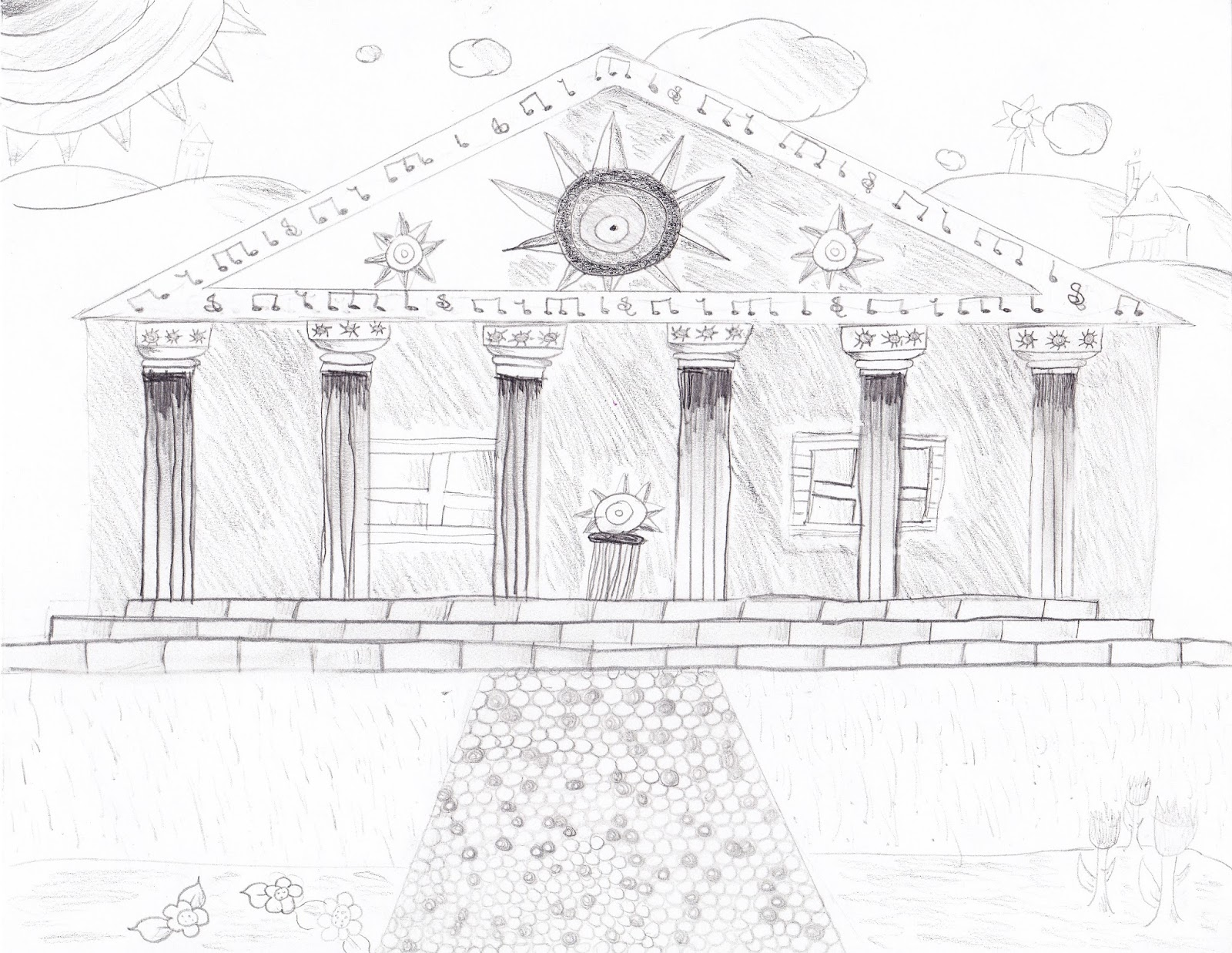 F M S Student Art Gallery Greek Temple Designs