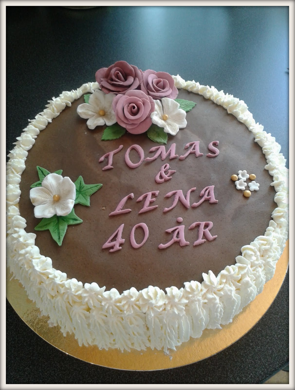 40 års kalas Milla på gärdet: Tårtor till 40 års kalas 40 års kalas