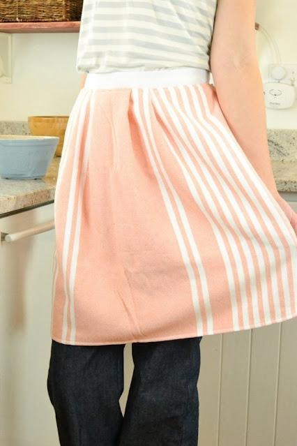 easy tea towel apron