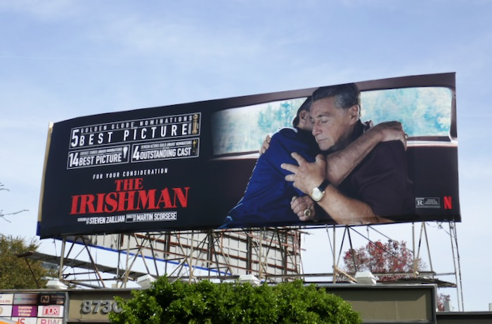 Irishman 5 Golden Globe nominations billboard