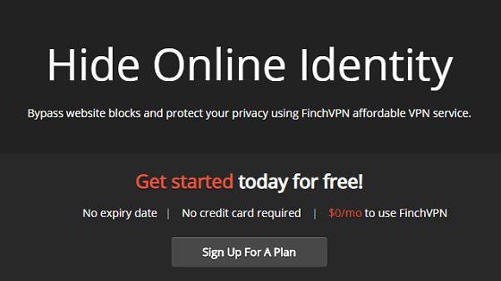 finchvpn tidak memiliki batasan penggunaan dan tidak membutuhkan kartu kredit untuk berlangganan