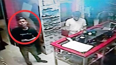 Bulan Puasa, Aksi Pemuda Bone Mencuri di Sebuah Distro Terciduk CCTV