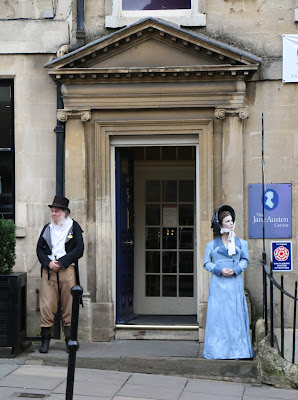 Martin Salter ready to welcome visitors  to the Jane Austen Centre in Bath