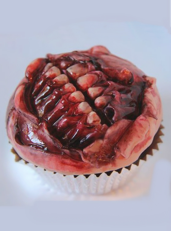 Zombie Mouth Cupcake Step By Step On this Hallowan