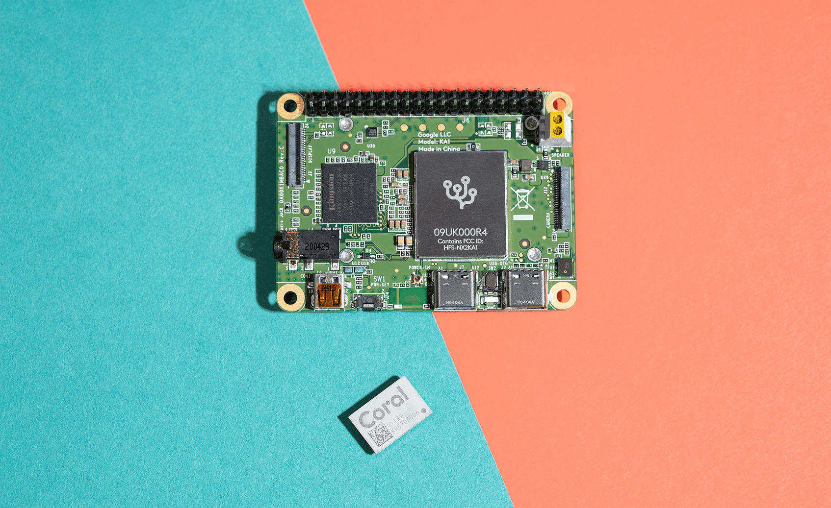 Coral Dev Board Mini and Accelerator Module feature Google's Edge TPU co-processor to accelerate AI at the edge.