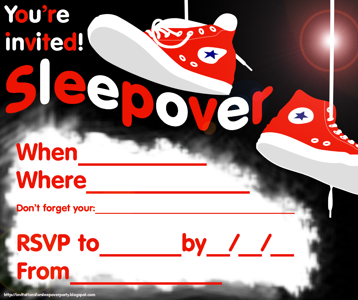 This is an image of Printable Sleepover Invitations inside sleepover party invites boy