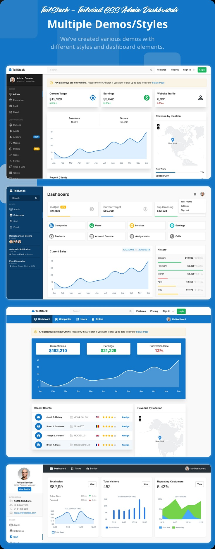 Tailwind CSS Admin Dashboard Template