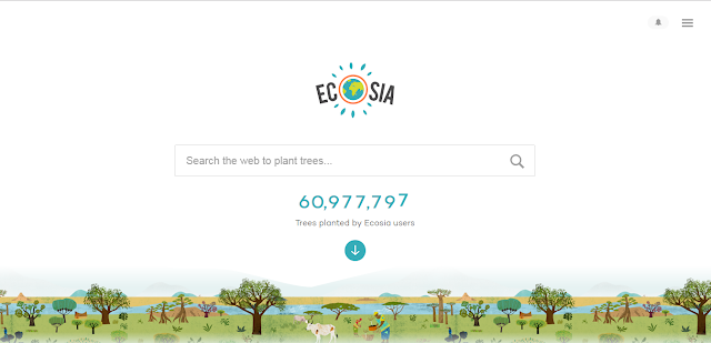 Situs Alternatif Google Ecosia