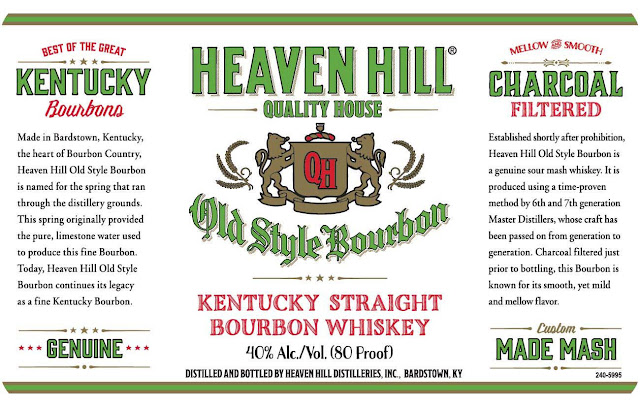 Heaven Hill Old Style Bourbon Kentucky Straight Bourbon Whiskey