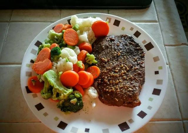 Cajun Oven Baked Steak and Veggies