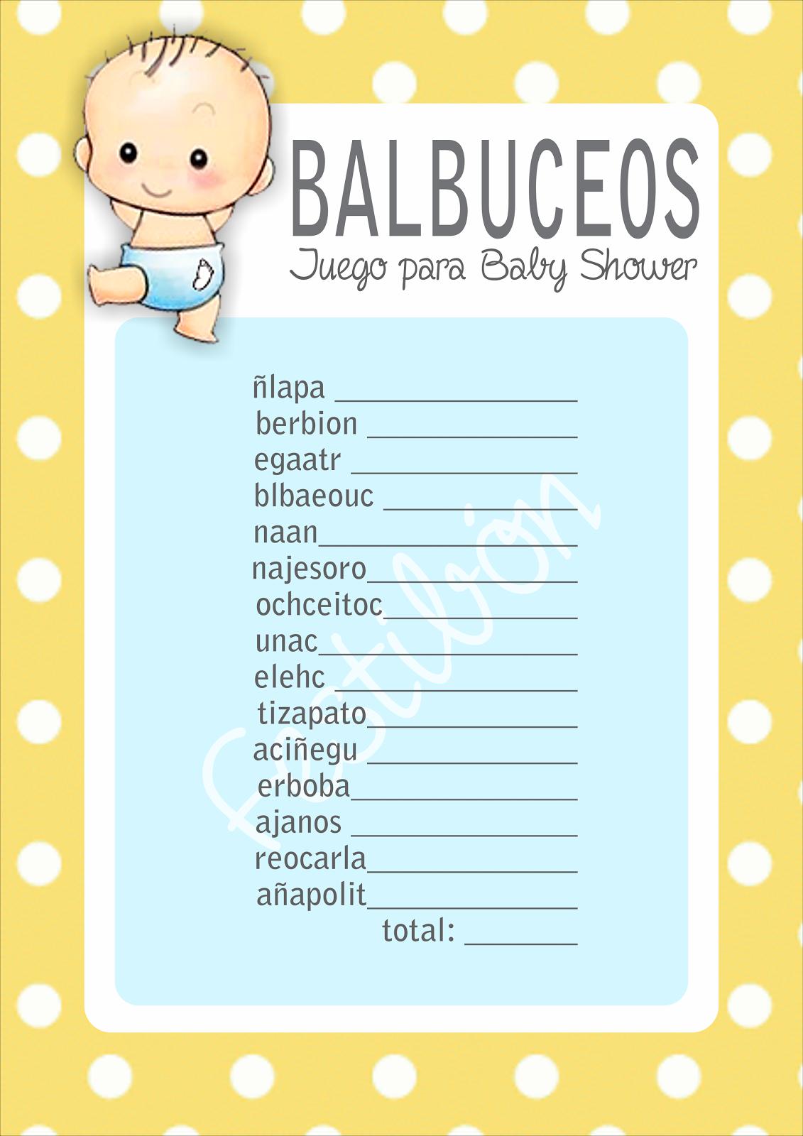 Juegos Para Imprimir De Baby Shower Gratis En Espanol Imagui
