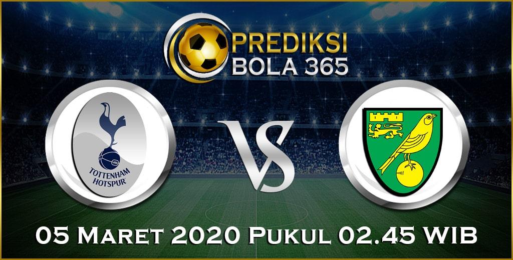 Prediksi Skor Bola Tottenham Hotspur vs Norwich 05 Maret 2020