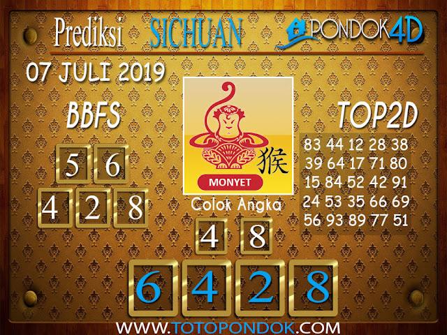 Prediksi Togel SICHUAN PONDOK4D 07 JULI  2019