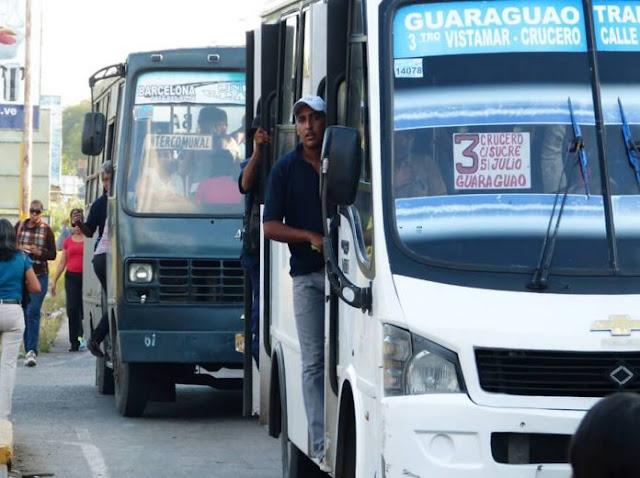 Aumentar el pasaje a 4 mil bolívares en mayo piden transportistas de Anzoátegui
