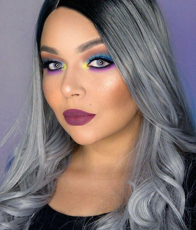 Maquiagem neon colorida