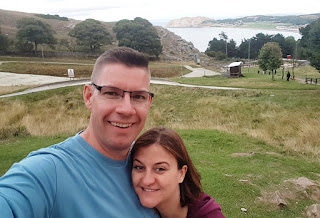 Minigolf explorers Richard and Emily Gottfried on the Great Orme mountain in Llandudno