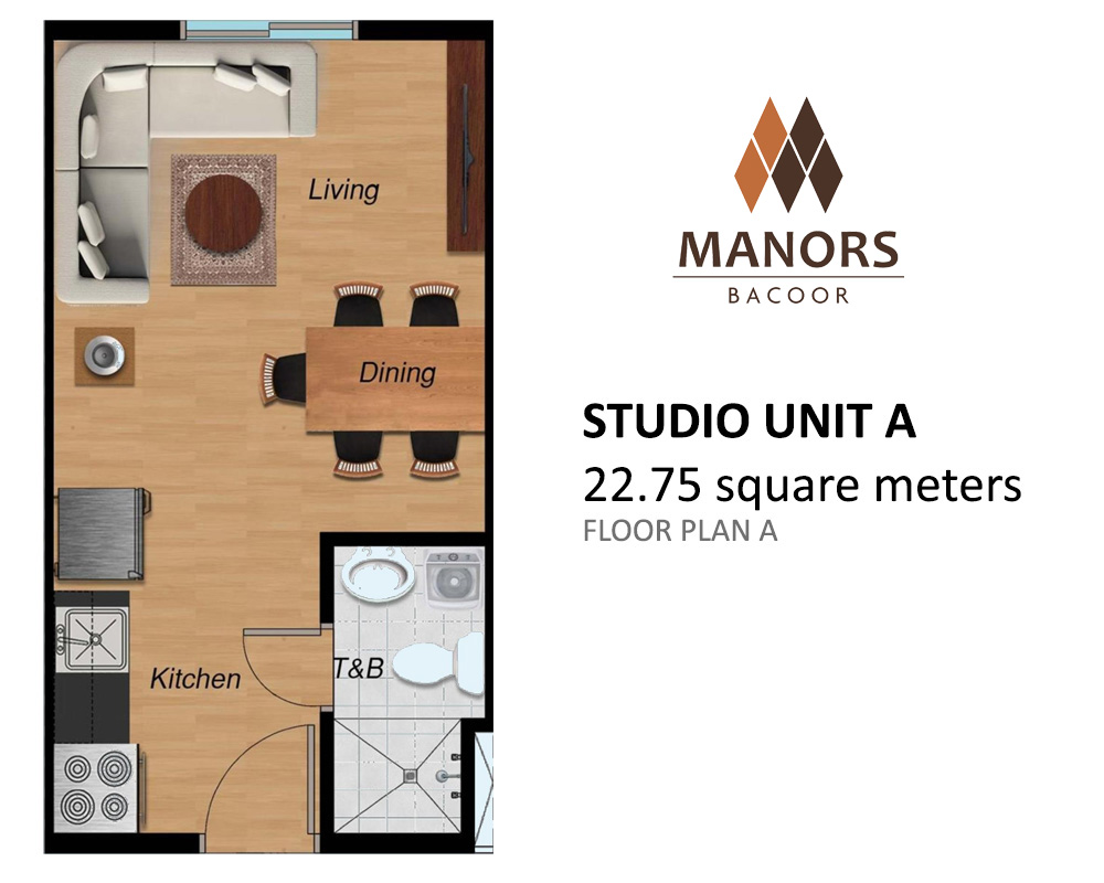 Studio 22.75 Sqm - Manors Bacoor| Camella Affordable House for Sale in Bacoor Cavite