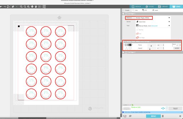 print and cut, beginner silhouette tutorial, sticker tutorial, silhouette tutorial, sticker paper cut settings, print and cut tutorial