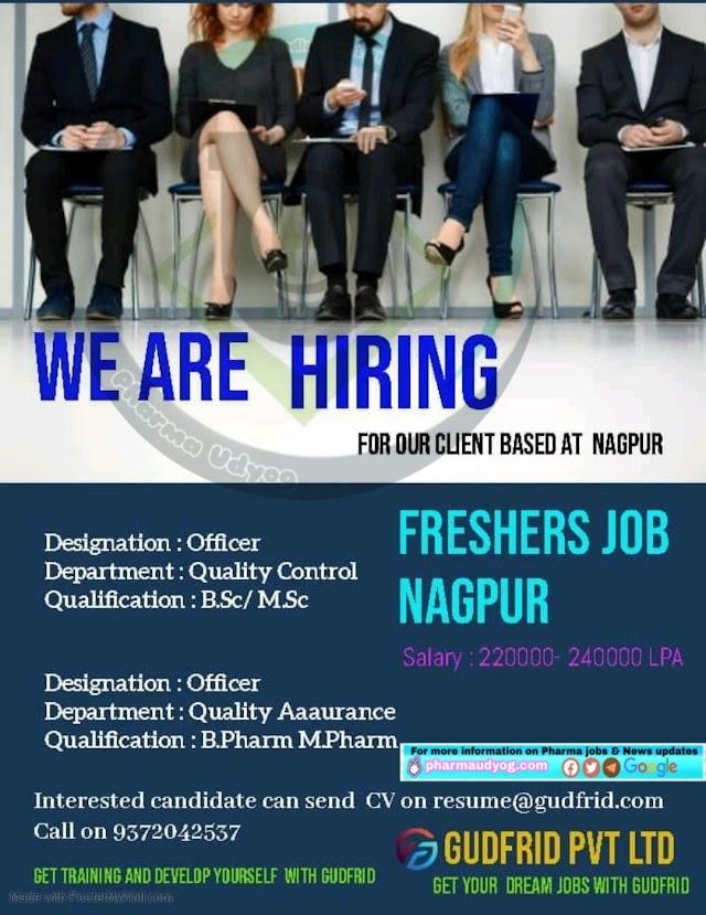 Gudfrid consultants | Hiring Freshers for QA for Nagpur Location | Send CV