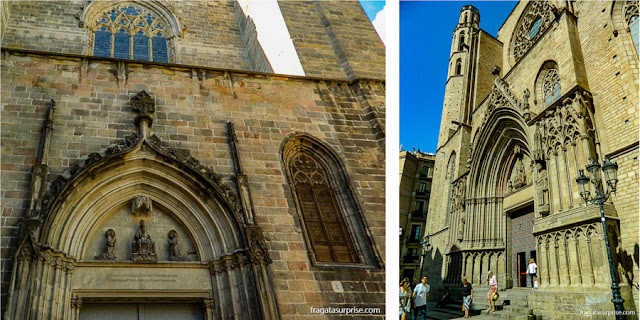 fachada da Igreja de Santa Maria del Mar, Barcelona