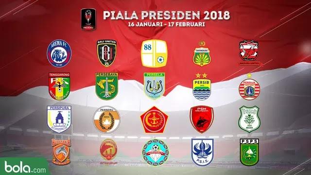 Pembagian Grup Piala Presiden 2018