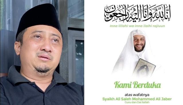 Detik-detik Sebelum Syekh Ali Jaber Meninggal Dunia, Yusuf Mansur Menangis: Semalam Sempat Kritis