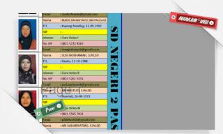 Anggota Aplikasi Administrasi KKG Update Mei 2016 Terbaru dengan Excel