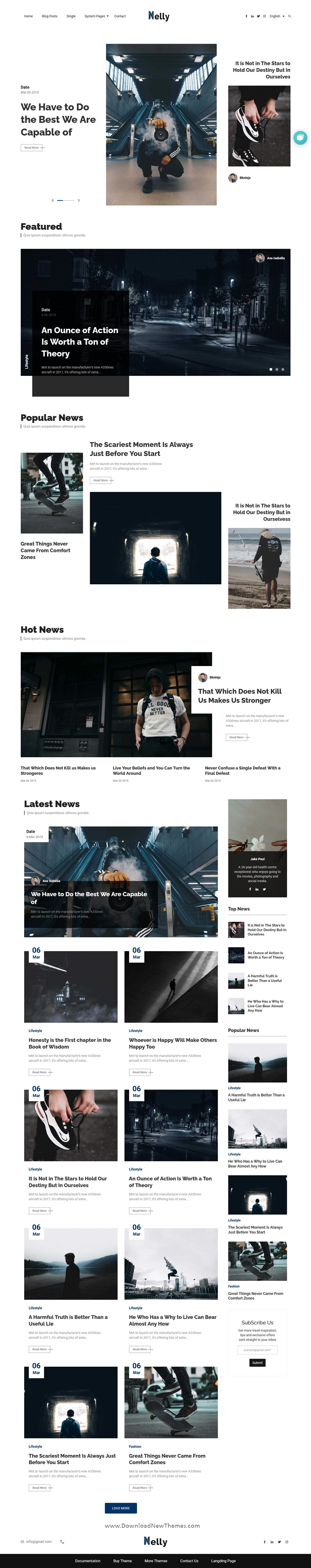 Nelly - Blog and Magazine HubSpot Theme