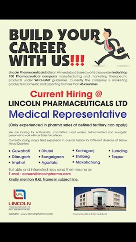 Urgent Opening at Lincoln Pharmaceuticals Ltd apply Now