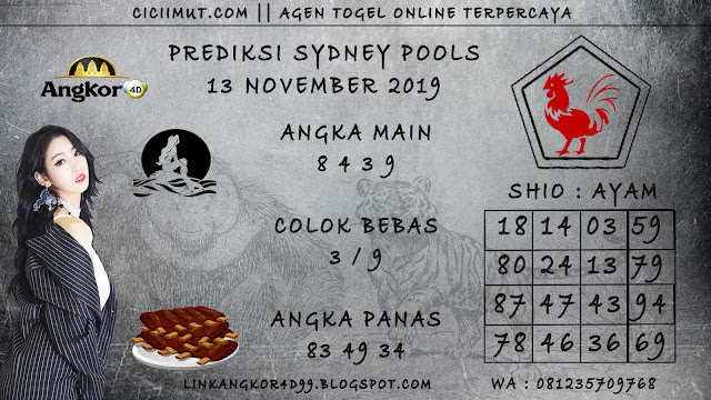 PREDIKSI SYDNEY POOLS 13 NOVEMBER 2019