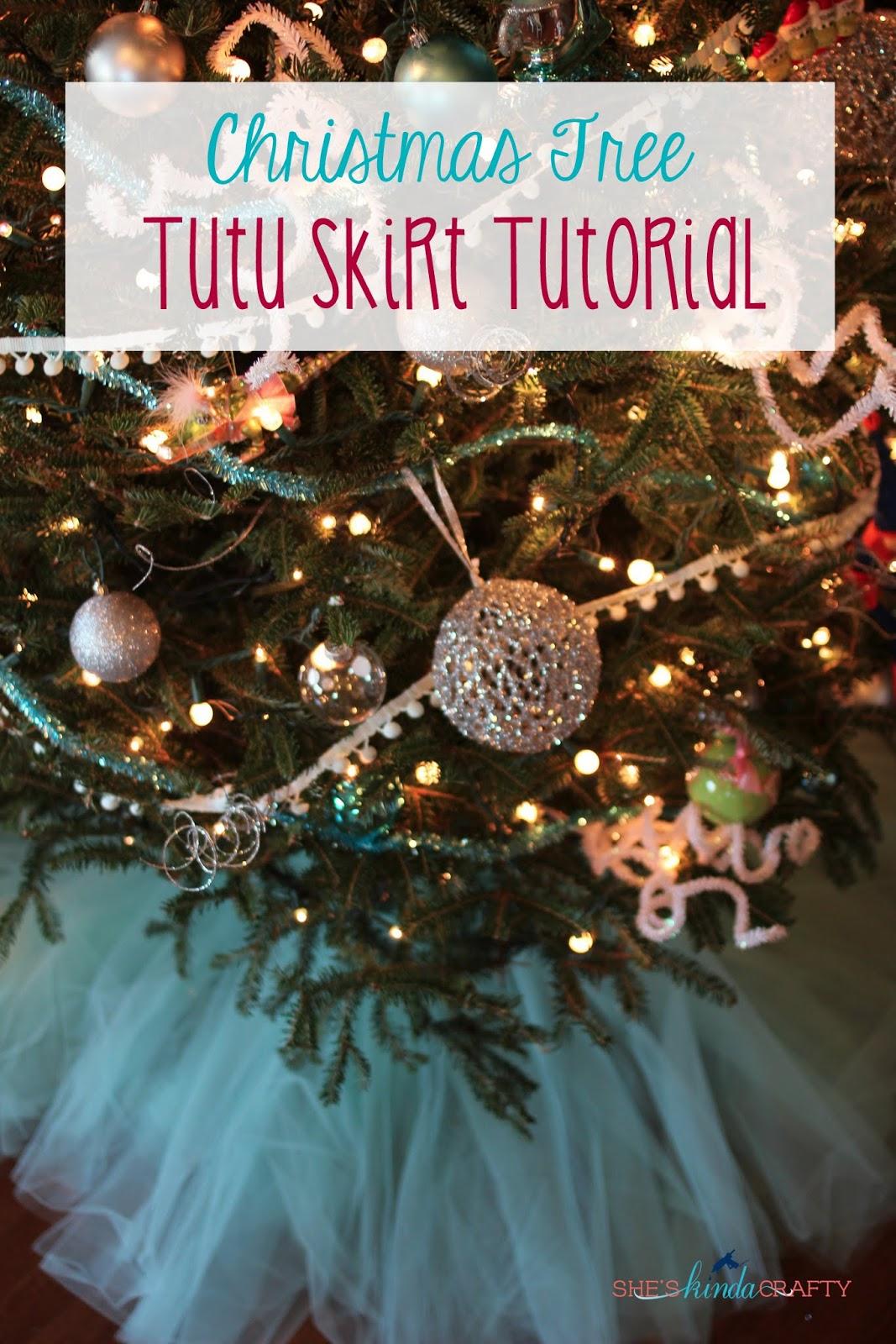 Christmas Tree Tutu Skirt Tutorial - Shes {kinda} Crafty