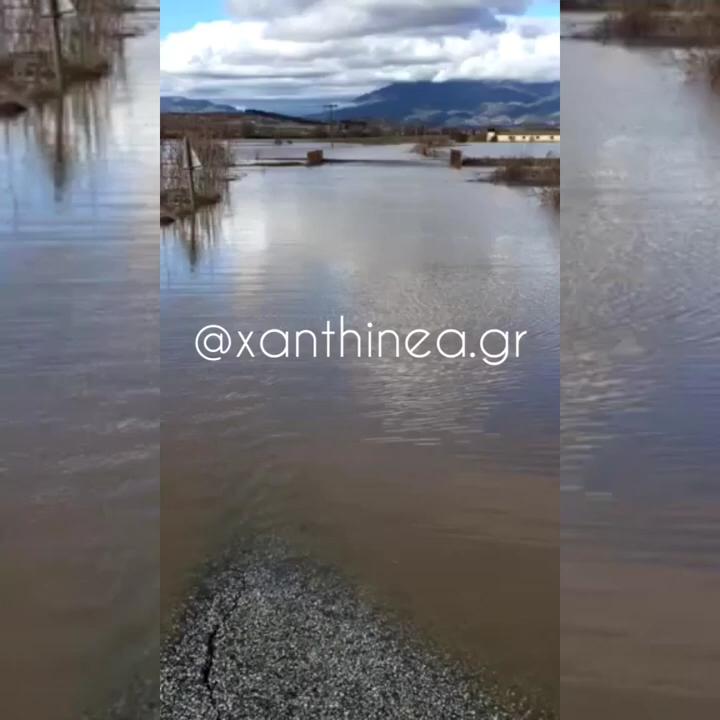 Πλημμύρισε ο κάμπος της Ξάνθης – Βούλιαξαν τα χωράφια (ΒΙΝΤΕΟ)