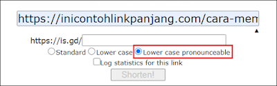 Cara Memperpendek Link - is.gd