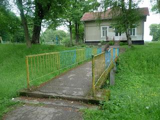 Руда. Мост через сохранившийся ров