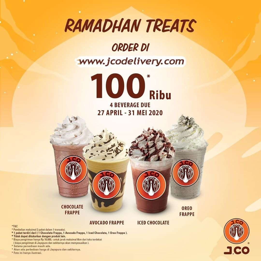 #4 Best Seller Minuman 100.000 - Promo JCO Ramadhan Treat Berlaku 27 April - 31 Mei 2020