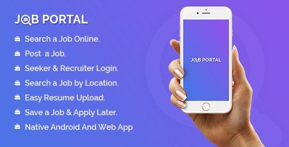 Download Job Portal Mobile Application With Web Portal