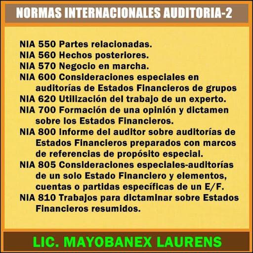 NORMAS INTERNACIONALES AUDITORÍA 2