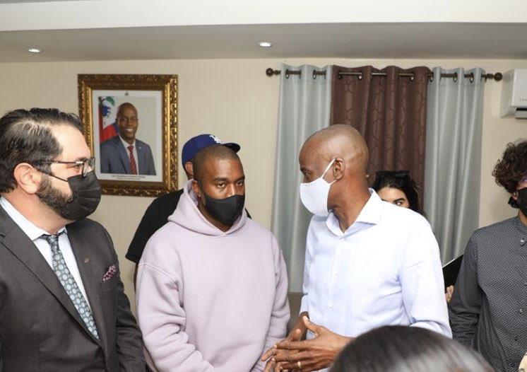 Tête à tête entre Jovenel Moïse et Kanye West