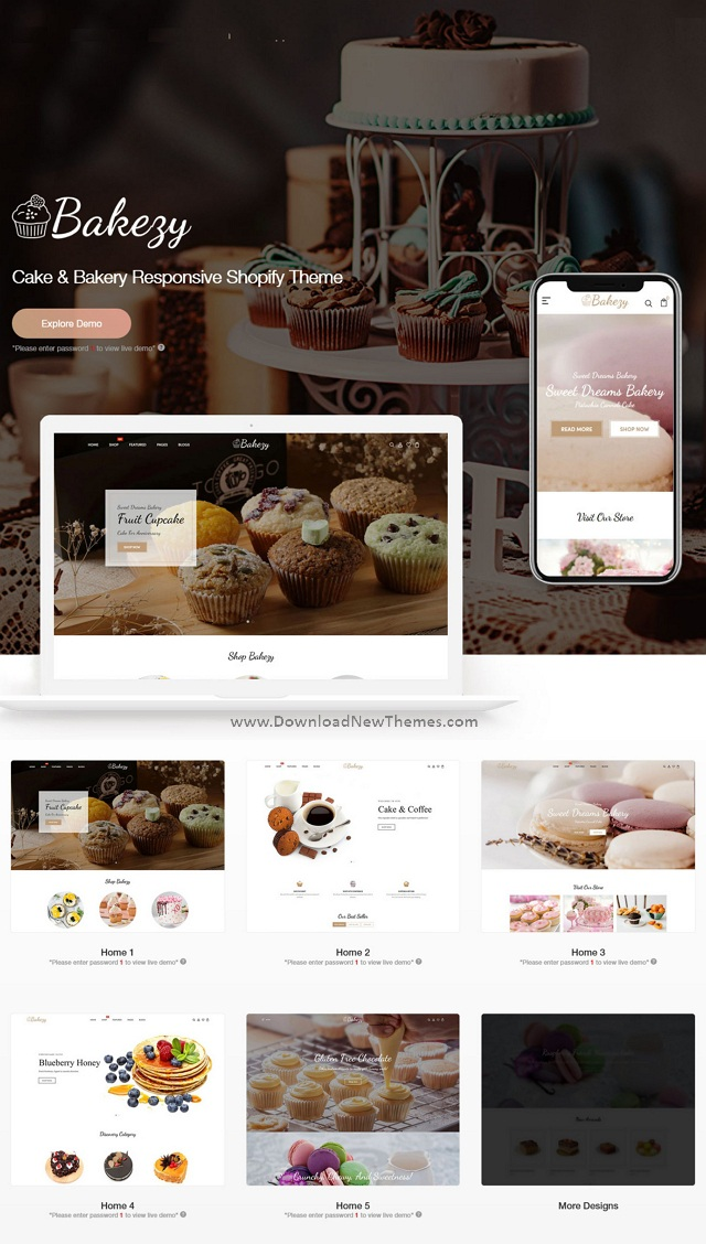 Cake & Bakery Responsive Shopify Theme