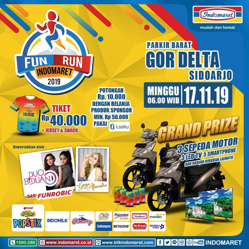 Fun Run Indomaret - Sidoarjo • 2019
