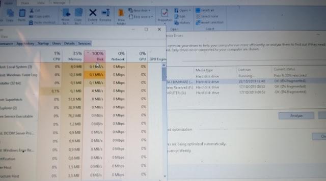 Jangan Remehkan Disk 100 % dan HDD Tiba-Tiba Panas di Laptop Kalian