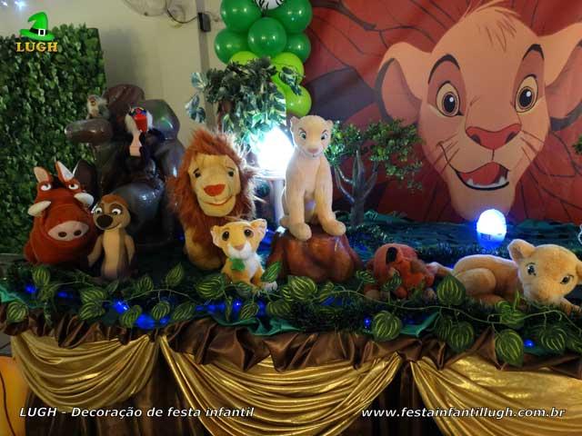 Decoração de festa infantil Rei Leão - Mesa de aniversário luxo